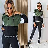 Жіночий спортивний костюм двійка батник і штани розмір: 48-50, 52-54, фото 6