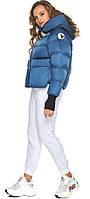 Куртка аквамаринова осіння на дівчинку зручна модель 26370, фото 1