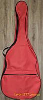 Красный чехол для акустической гитары типа дредноут, Yamaha f310, Леотон, Трембита, Cort AD810 (Favorit G-38)