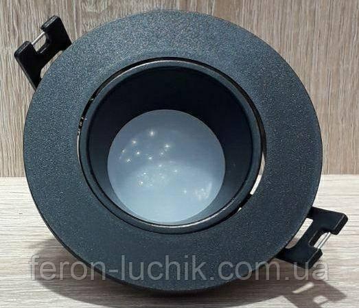 Точечный Встраиваемый светильник Feron DL0375 Чёрный поворотный круглый