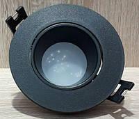 Точечный Встраиваемый светильник Feron DL0375 Чёрный поворотный круглый, фото 1
