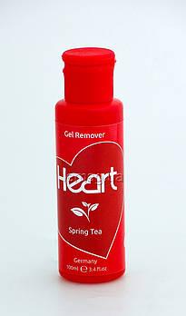 Heart Gel Remover Жидкость для снятия гель-лака -  Весенний чай, 100 мл