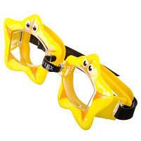 Intex 55603-yellow, детские очки для плавания, Обитатели моря. Звездочки, фото 1