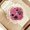 Многофункциональные наручные спортивные часы Casio Shors GA-100 White/Pink 706