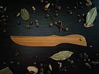 Ніж кухонний  з натурального дерева, фото 1