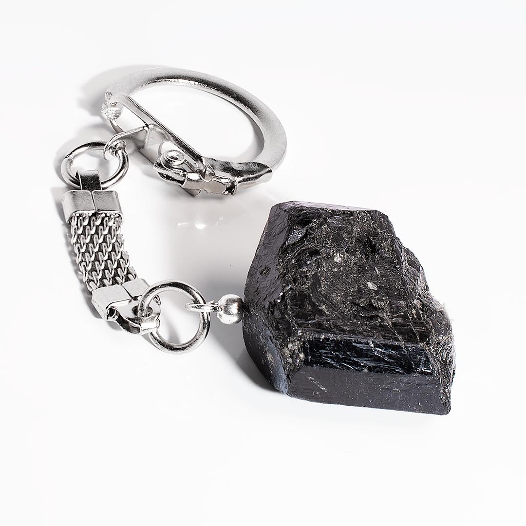 Брелок з шерлом чорним турмаліном, 107БШ