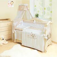 Бампер в детскую кроватку защитный сатиновый Twins Evo, Летний, бежевый