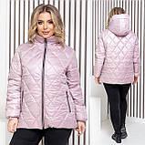 Женская демисезонная куртка плащевка лак+силикон150+подклад полиестер размер: 46-48,50-52,54-56, фото 2