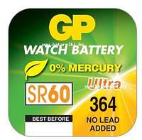 Батарейка GP SR60 (364, 621SW, G1) серебро