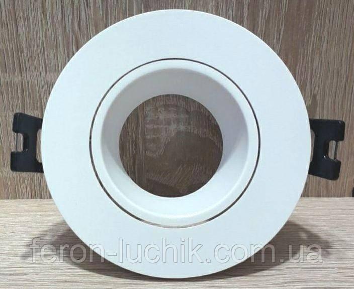 Вбудований світильник точковий Feron DL0375 Білий поворотний круглий
