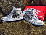 Air Jordan 1 Retro x Dior Grey (Топ якість) Осінь-Весна, Еврозима, Кроссівки, Чоловіче жіноче взуття, фото 2