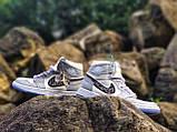 Air Jordan 1 Retro x Dior Grey (Топ якість) Осінь-Весна, Еврозима, Кроссівки, Чоловіче жіноче взуття, фото 4