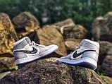 Air Jordan 1 Retro x Dior Grey (Топ якість) Осінь-Весна, Еврозима, Кроссівки, Чоловіче жіноче взуття, фото 8