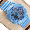 Яркие наручные спортивные часы Casio Shors GA-100 Azure 711