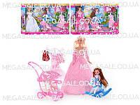 """Кукольный набор Defa """"Кукла с дочкой"""", 3 вида: коляска, качалка, манекен, одежда"""