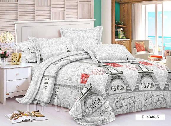 """""""париж"""" постельное белье 3D эффект евро размер, нав-ки 70/70, фото 2"""