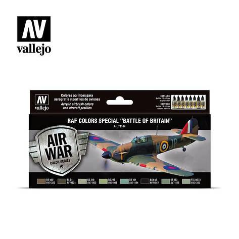 Цвета Королевских ВВС в Битве за Британию. Набор водных красок для моделей самолетов. VALLEJO 71144, фото 2