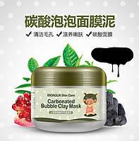 Суперэфективная глинянная пенная маска для глубокого очищения пор BIOAGUA Skin cart