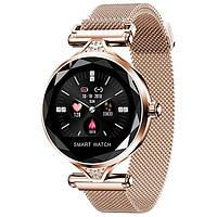 Модные женские умные часы SMART DOMINIKA GOLD, наручные смарт часы