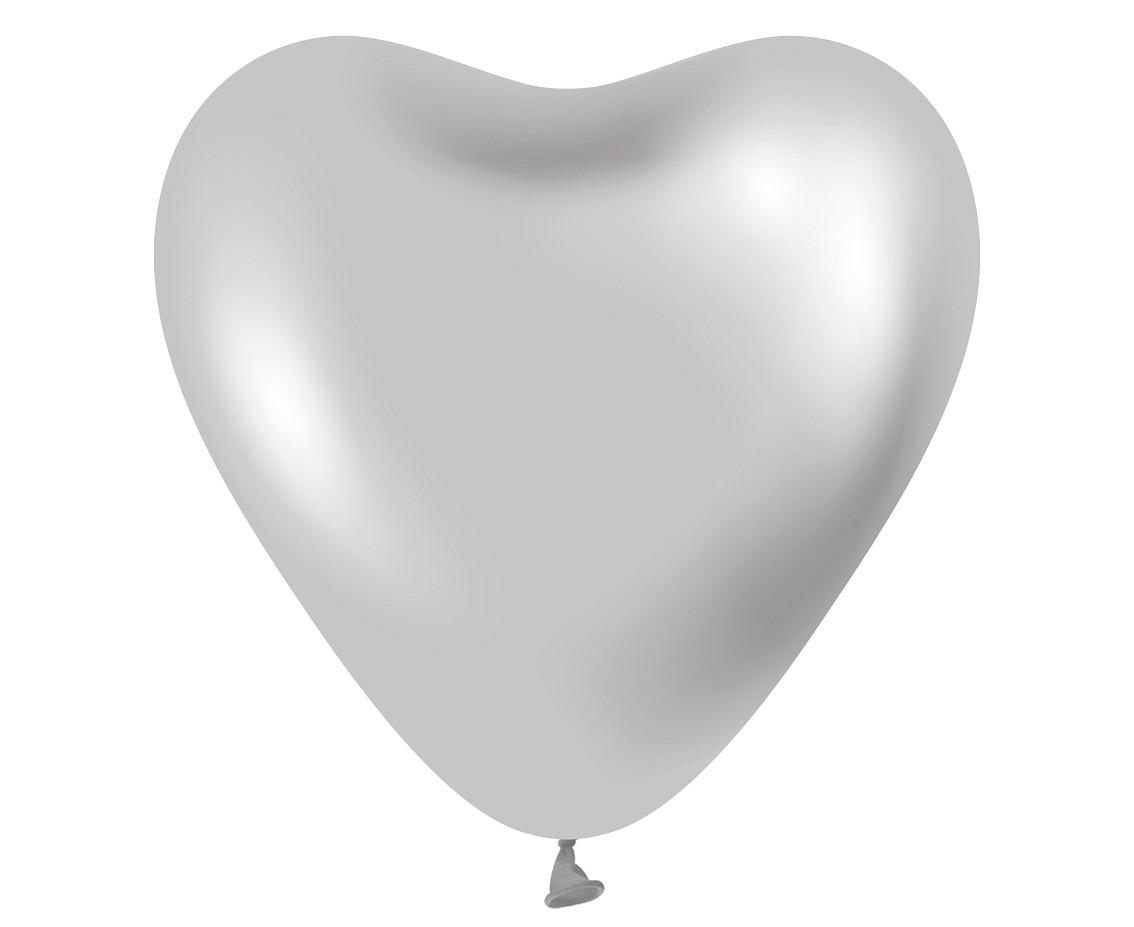 """12 """"Сердце Хром Silver серебряный Kalisan"""