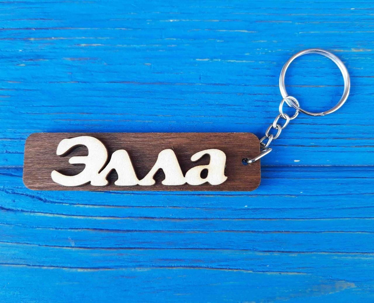 Брелок именной Элла. Брелок с именем Элла. Брелок деревянный. Брелок для ключей. Брелоки с именами