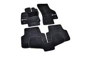 Килимки в салон ворсові для Skoda Octavia A7 (2012-) /Чорні Premium