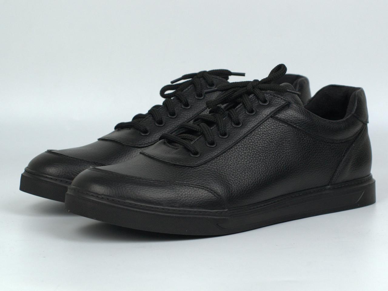 Кроссовки мужские кеды повседневные кожаные черные обувь осень-весна Rosso Avangard Ada Black Floto