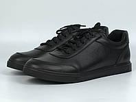 Кроссовки мужские кеды повседневные кожаные черные обувь осень-весна Rosso Avangard Ada Black Floto, фото 1