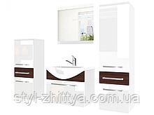 Комплект меблі для ванної кімнати PIANO 4 /глянець/ з умивальником та дзеркалом