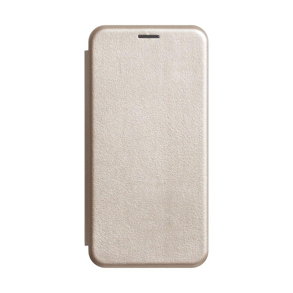 Чехол-книжка кожа для Xiaomi Redmi 7 Цвет Золотой