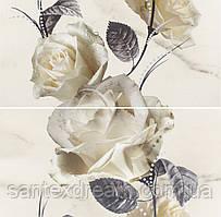 Декор Opoczno Carrara цветы 58,3x59,3 бьянко