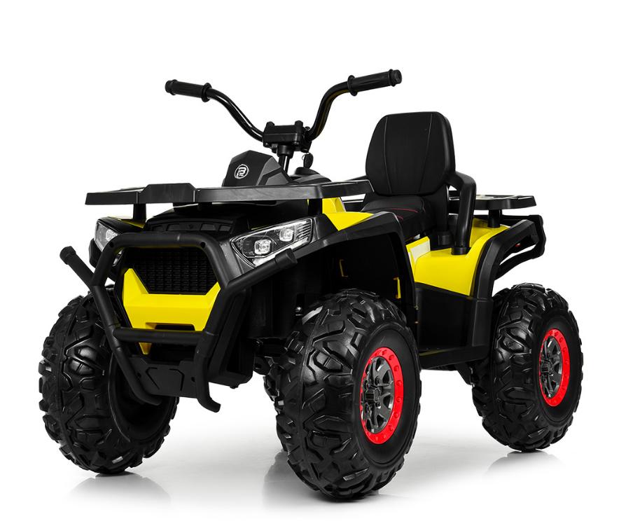 Детский одноместный электромобиль квадроцикл Bambi M 4081EBLR-2-6 с пультом управления / цвет черно-желтый **
