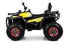 Детский одноместный электромобиль квадроцикл Bambi M 4081EBLR-2-6 с пультом управления / цвет черно-желтый **, фото 3