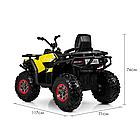 Детский одноместный электромобиль квадроцикл Bambi M 4081EBLR-2-6 с пультом управления / цвет черно-желтый **, фото 6