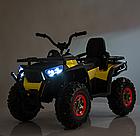 Детский одноместный электромобиль квадроцикл Bambi M 4081EBLR-2-6 с пультом управления / цвет черно-желтый **, фото 4