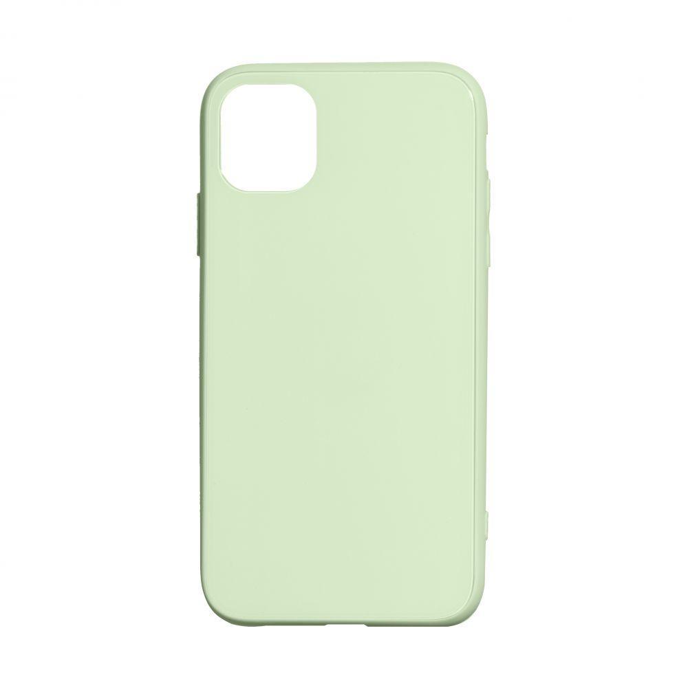 Чехол TPU Glass Logo Full для Apple Iphone 11 Pro Цвет Салатовый