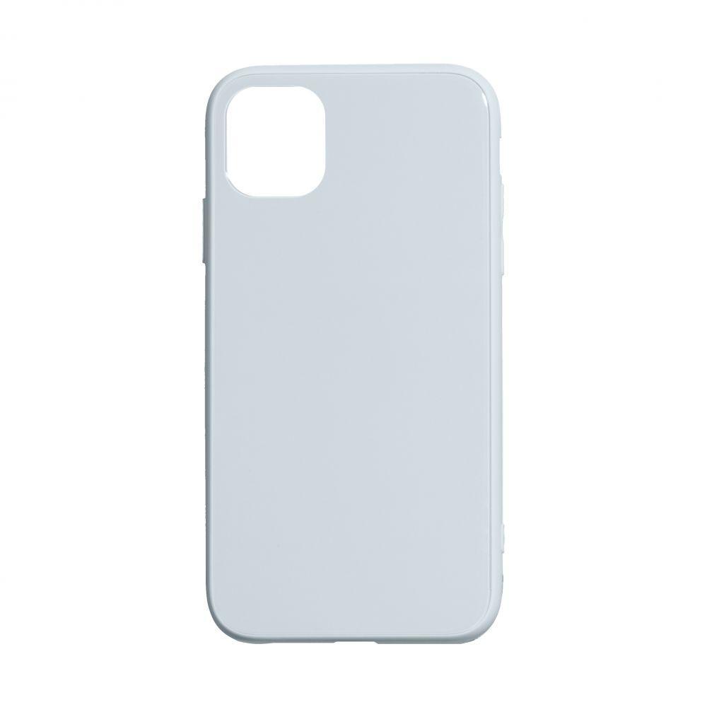 Чехол TPU Glass Logo Full для Apple Iphone 11 Pro Max Цвет Голубой