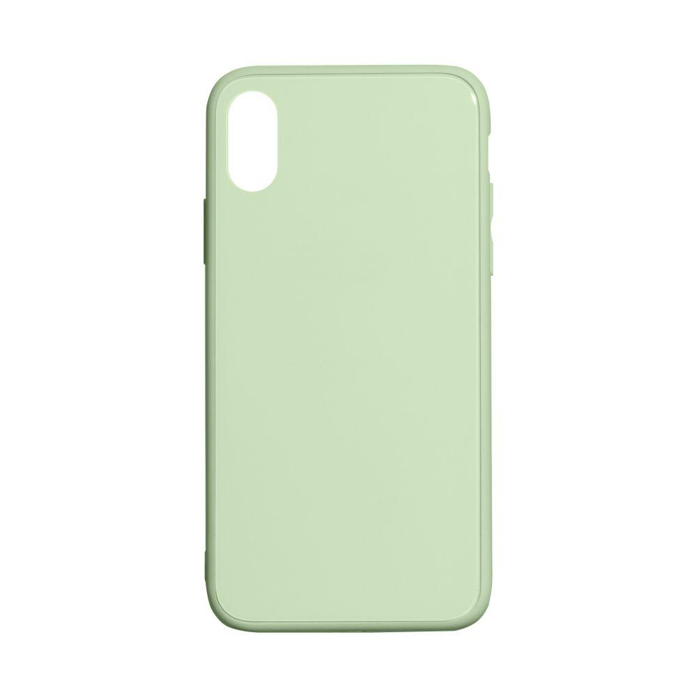 Чехол TPU Glass Logo Full для Apple Iphone X / Xs Цвет Салатовый
