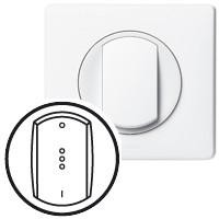 Лицьова панель - Програма Celiane - вимикач з підсвічуванням або індикацією - білий