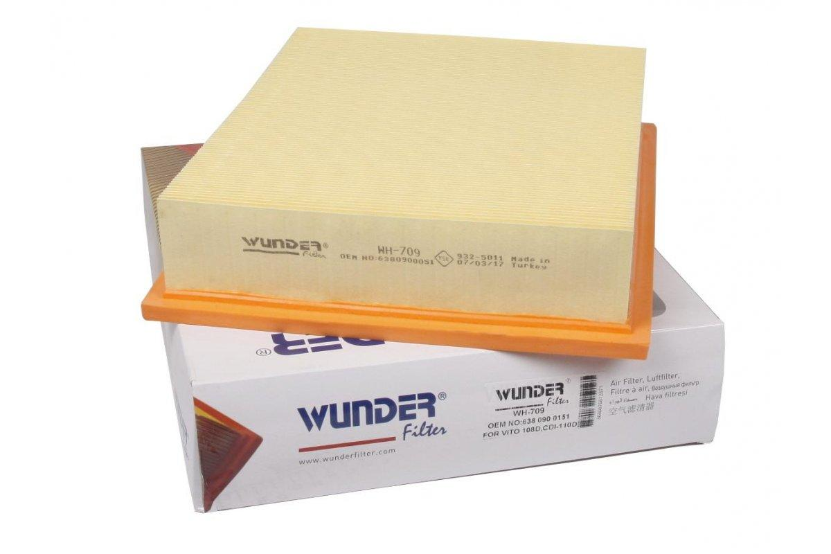Воздушный фильтр Mercedes Vito 638 (96-03) WUNDER (Турция) WH-709