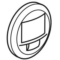 Лицевая панель -датчик движения двухпроводный 250 Вт без нейтрали с функцией ручного управления