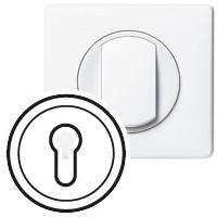 Лицевая панель - Программа Celiane - выключатель с ключом трехпозиционный с самовозвратом Кат. № 0 670 39