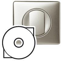 Лицевая панель - Программа Celiane - выключатель с ключом для светильников Кат. № 0 675 31 - титан
