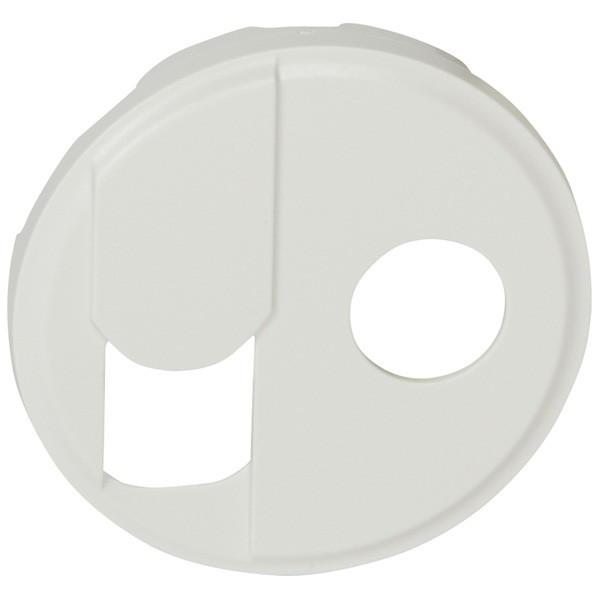 Лицевая панель - Программа Celiane - розетка RJ 45 + розетка ТV тип F Кат. № 0 673 37 + 0 673 82 - белый