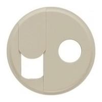Лицьова панель - Програма Celiane - розетка RJ 45 + розетка ТV тип F Кат. № 0 673 37 + 0 673 82 - слонова до