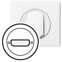 Лицевая панель - Программа Celiane - розетка аудио/видео HD15 VGA Кат. № 0 673 16 - белый