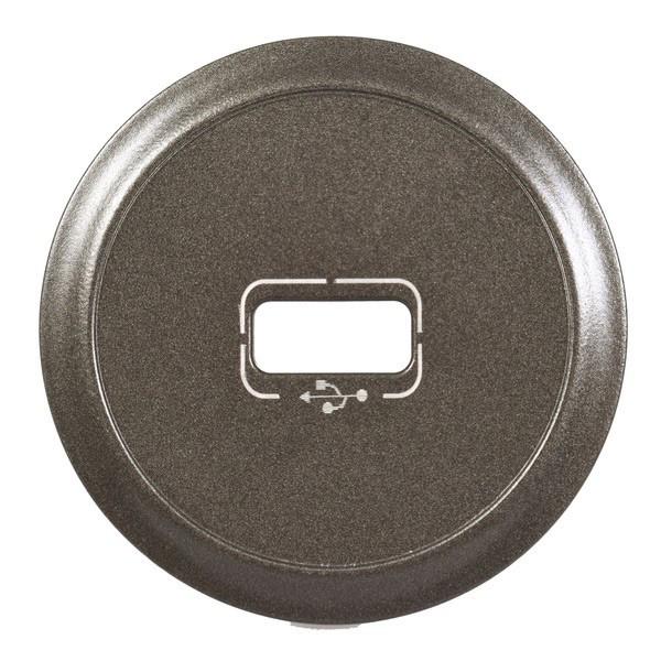Лицьова панель - Програма Celiane - розетка USB, Кат. № 0 673 52/72 - графіт