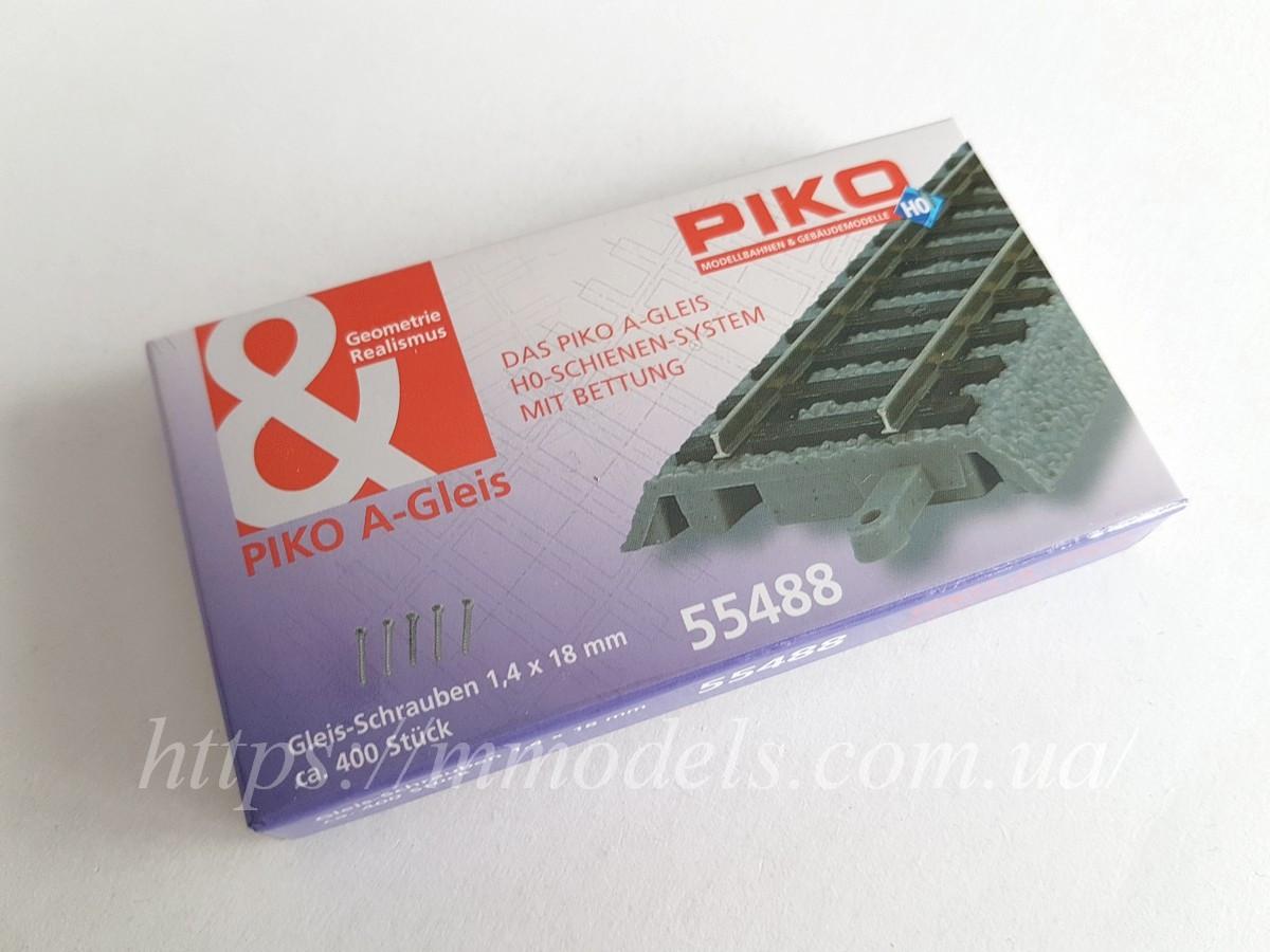 Piko 55488 Комплект шурупов 400 шт для крепления рельсового c подложкой PIKO A-track к основанию макета, 1:87