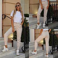 Женские стильные замшевые брюки. Цвет: серый, беж,чёрный, коричневый. Размер: 42-44, 44-46