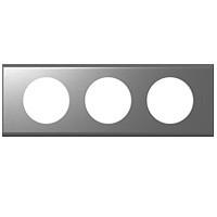 Рамка - Програма Celiane - 3 посади - фактурна сталь